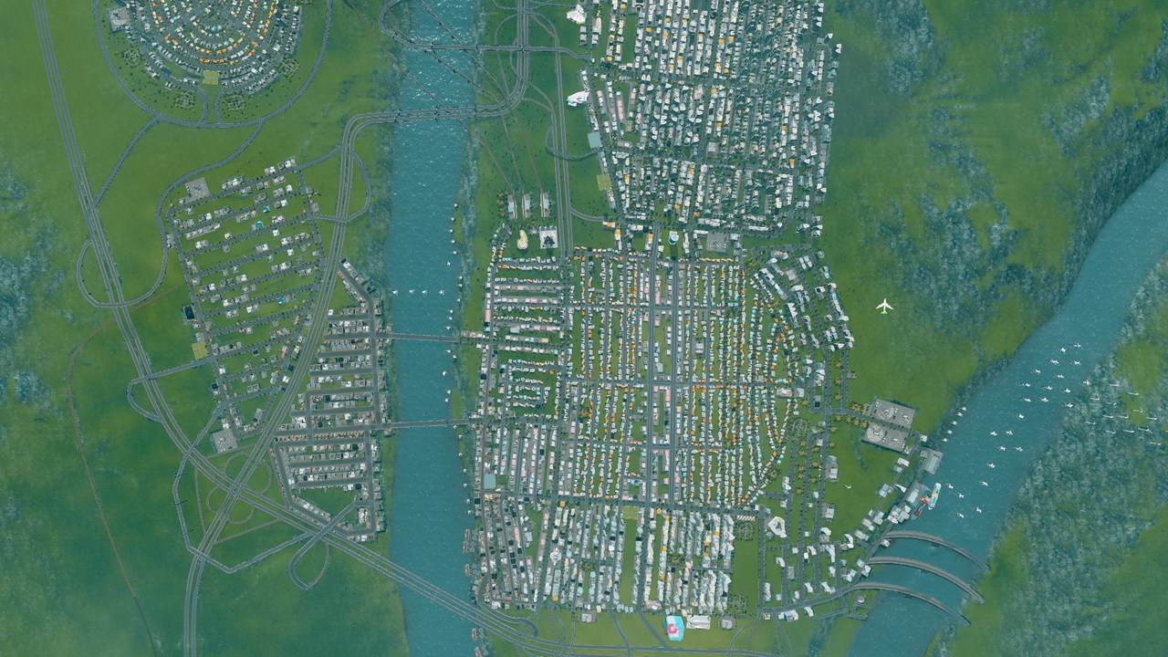 《城市天际线》游戏截图