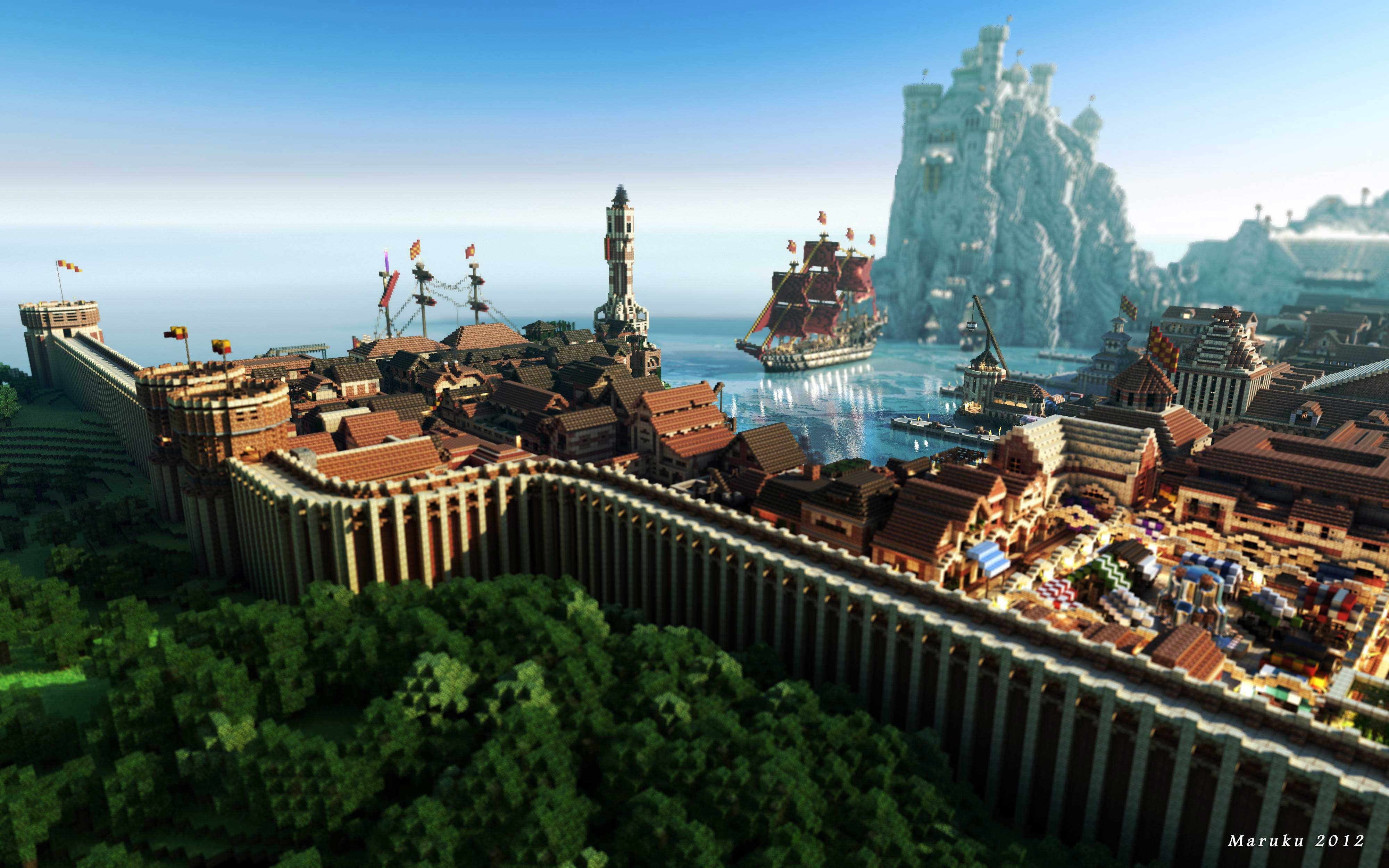 《我的世界》风景秀丽的高清壁纸 第一弹