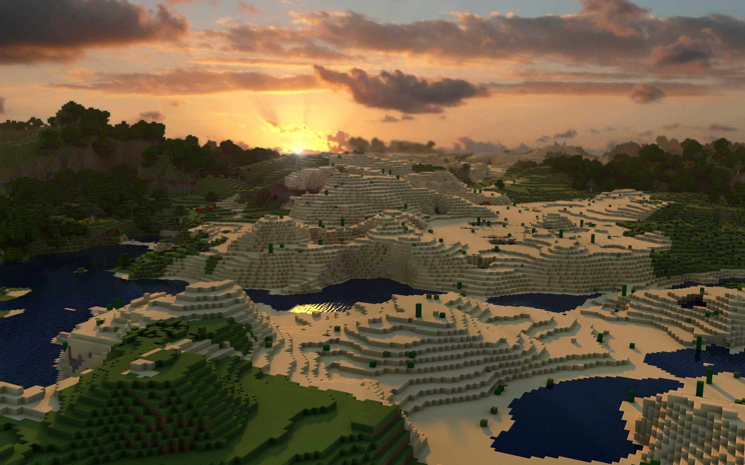 《我的世界》风景秀丽的高清壁纸 第一弹_图片新闻