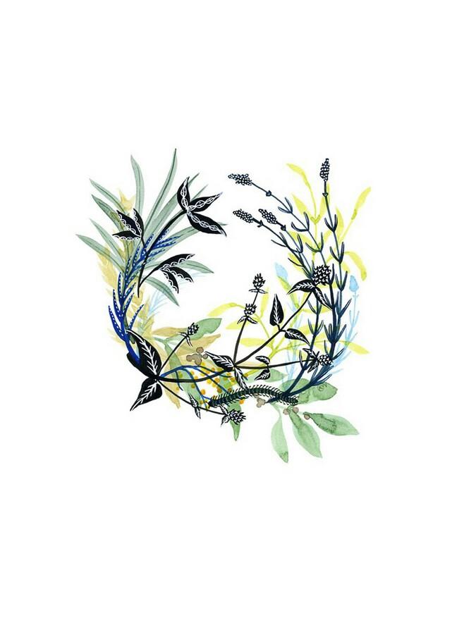水彩文艺小清新植物花环素材图片_图片新闻_东方头条