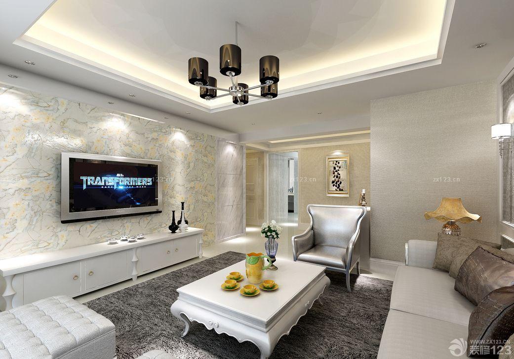 欧式客厅大理石电视背景墙装饰
