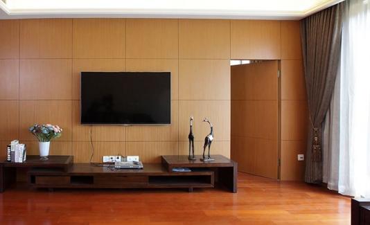 豪华欧式客厅隐形门电视背景墙装修设计