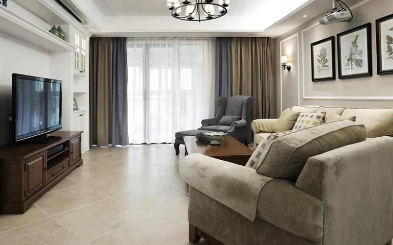 178平现代美式风格三居室装修 浓醇咖啡香图片
