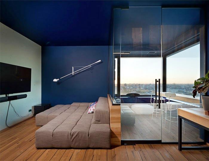 80平米单身公寓设计图 开放式的绿空间