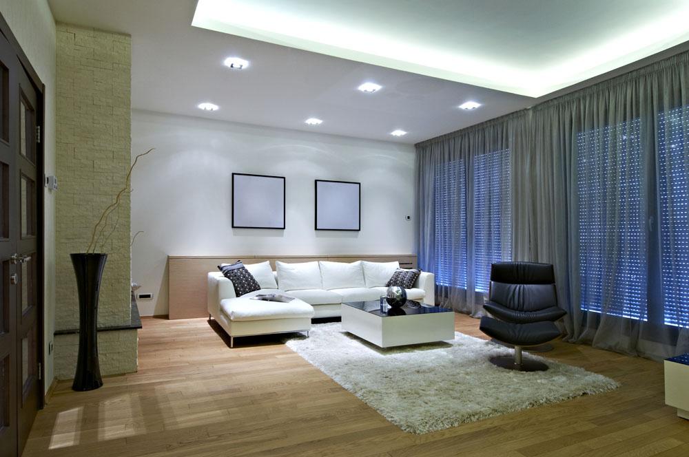 時尚簡約裝潢設計客廳背景墻圖片