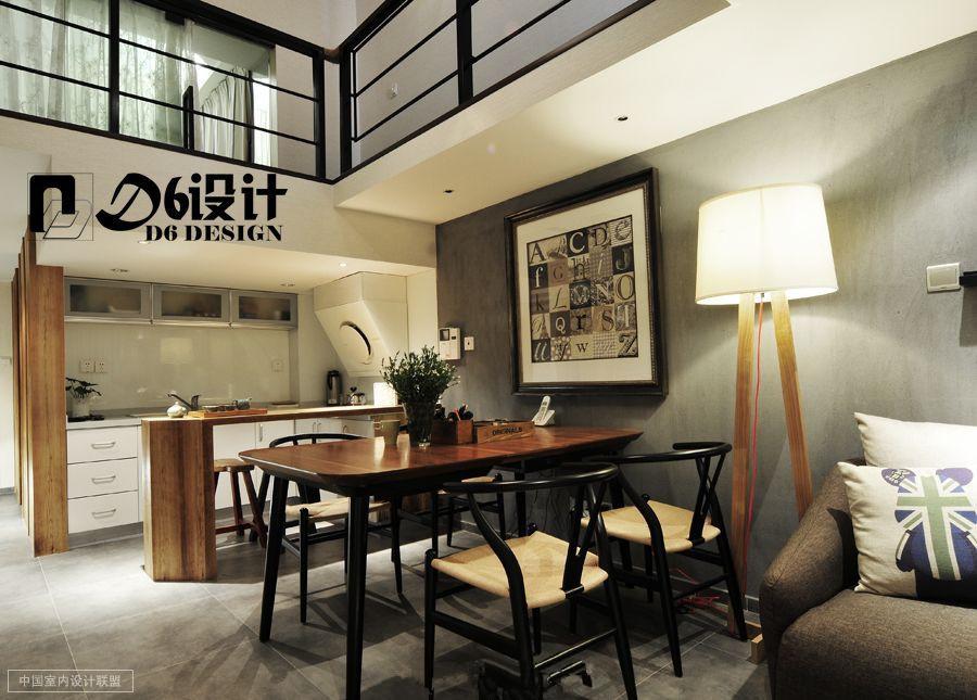 49平米隔层loft单身公寓效果图