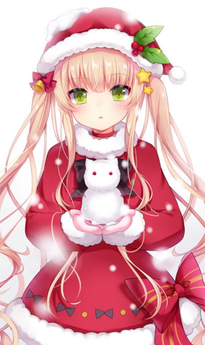 动漫美少女陪你过圣诞,集体穿上红装温暖又迷人