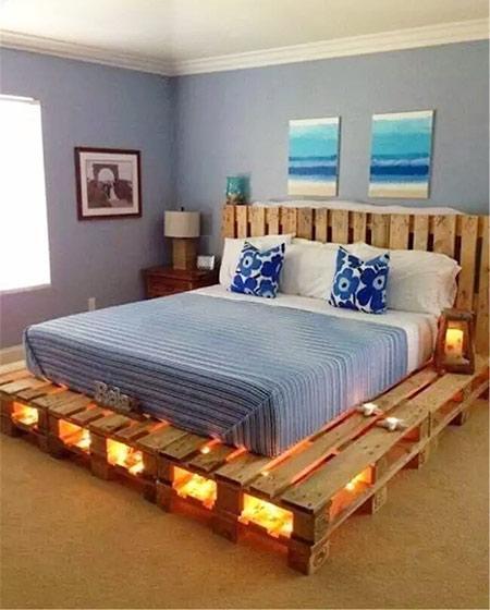 10个卧室木板床diy效果图 简洁生活造出来