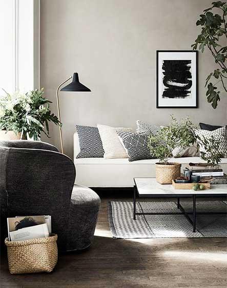 黑白灰世界 10个北欧风格客厅设计图片