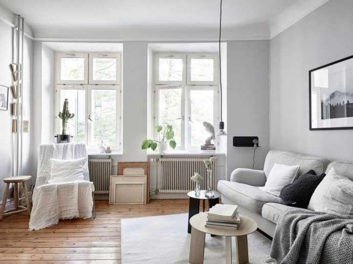 黑白灰世界 10個北歐風格客廳設計圖片
