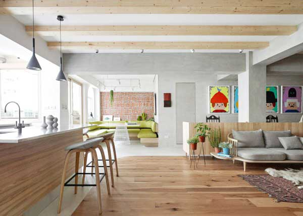 70平米单身公寓装修效果图 自然无拘束