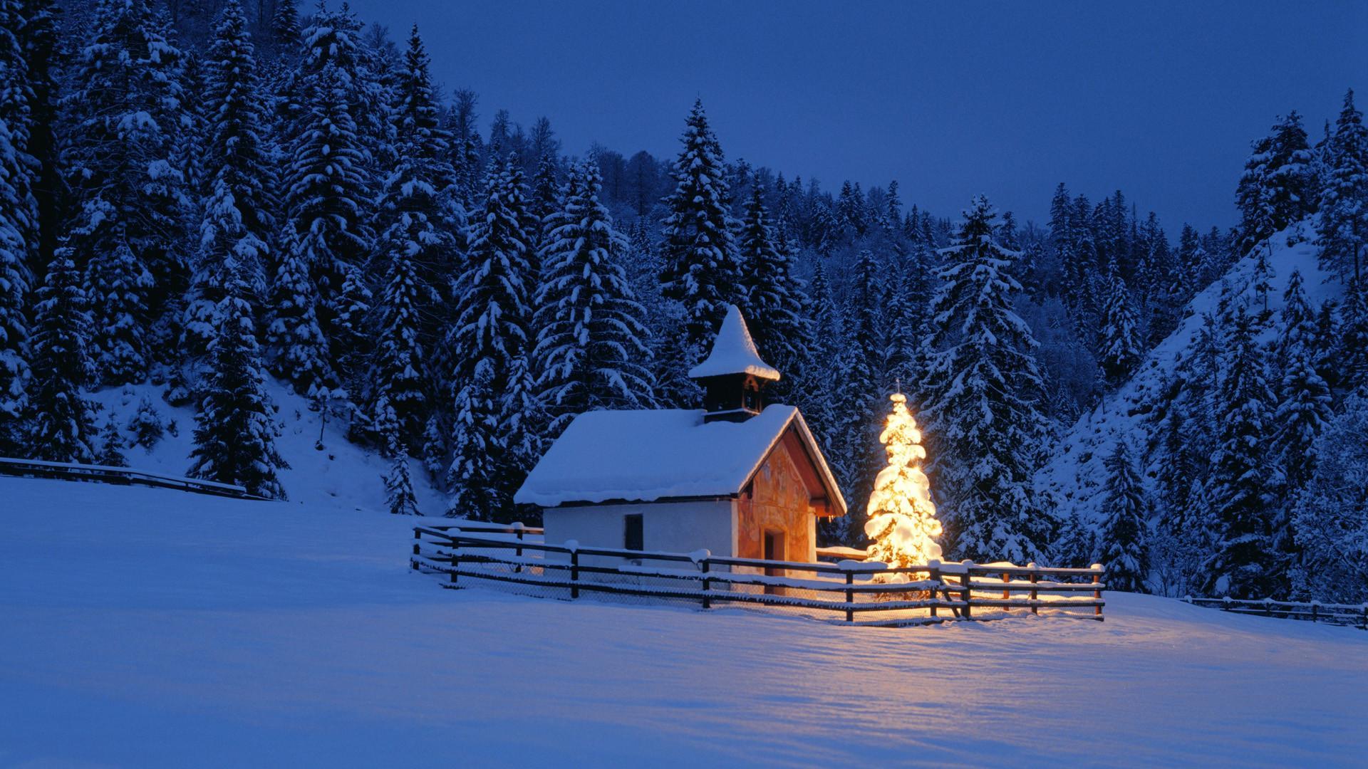 冬季雪景壁纸 冬季唯美风景雪景高清桌面壁纸 _图片