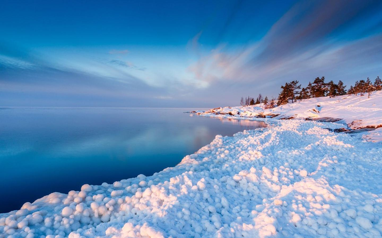 冬季雪景壁纸 冬季唯美风景雪景高清桌面壁纸