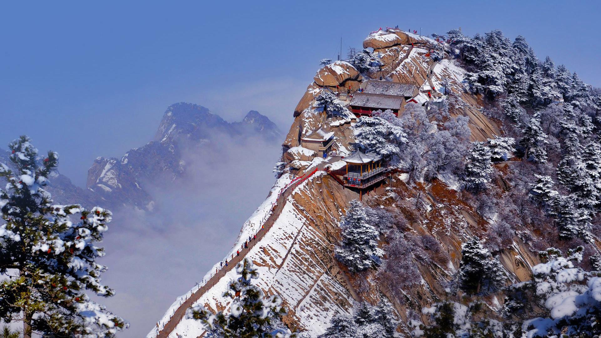 雪景壁纸 风景 唯美冬季雪景风景桌面高清壁纸