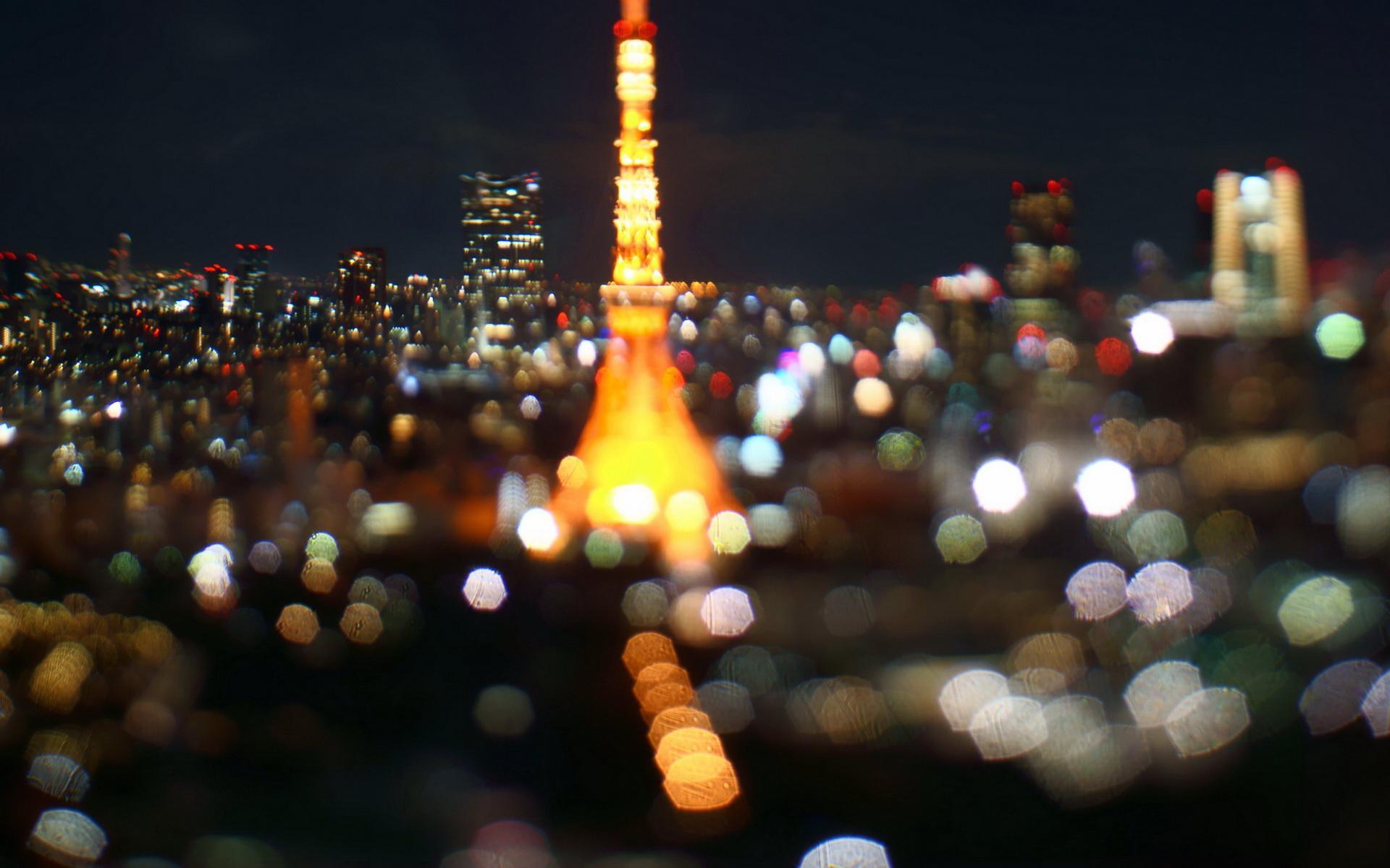 日本东京夜景壁纸 日本东京梦幻夜景高清壁纸