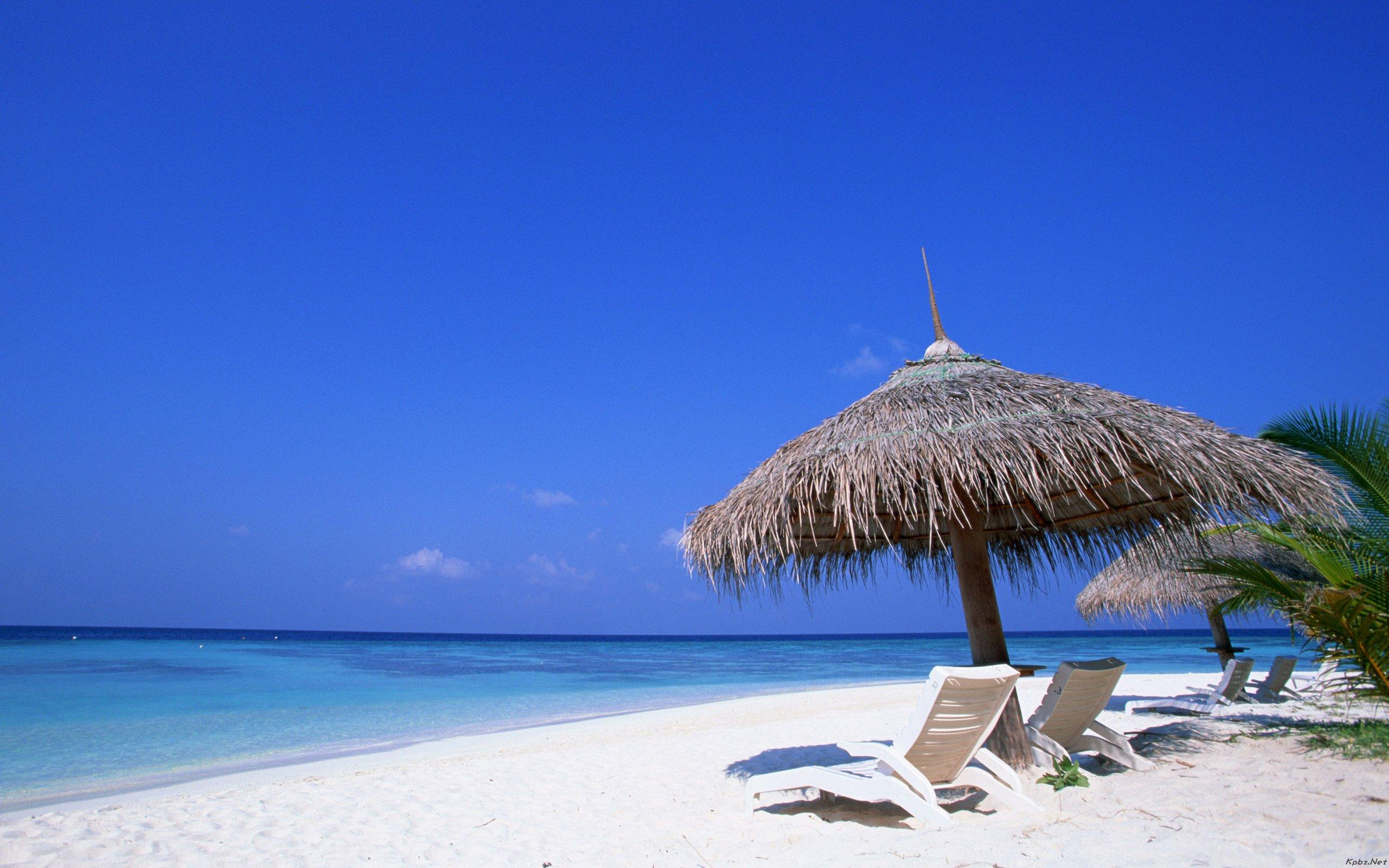 马尔代夫高清海滩壁纸 马尔代夫唯美海滩电脑壁纸