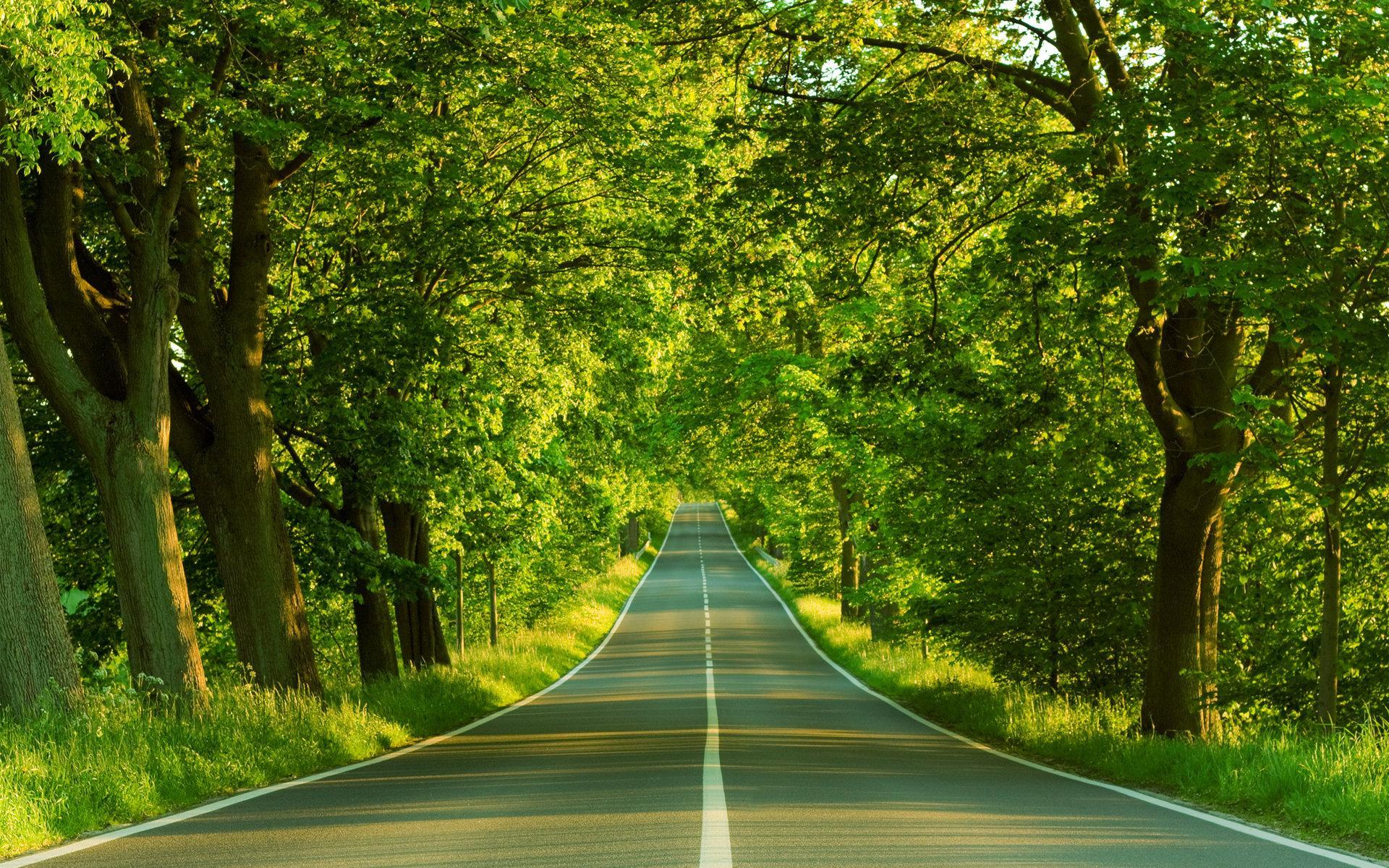 公路壁纸 风景 路的尽头唯美风景高清桌面壁纸