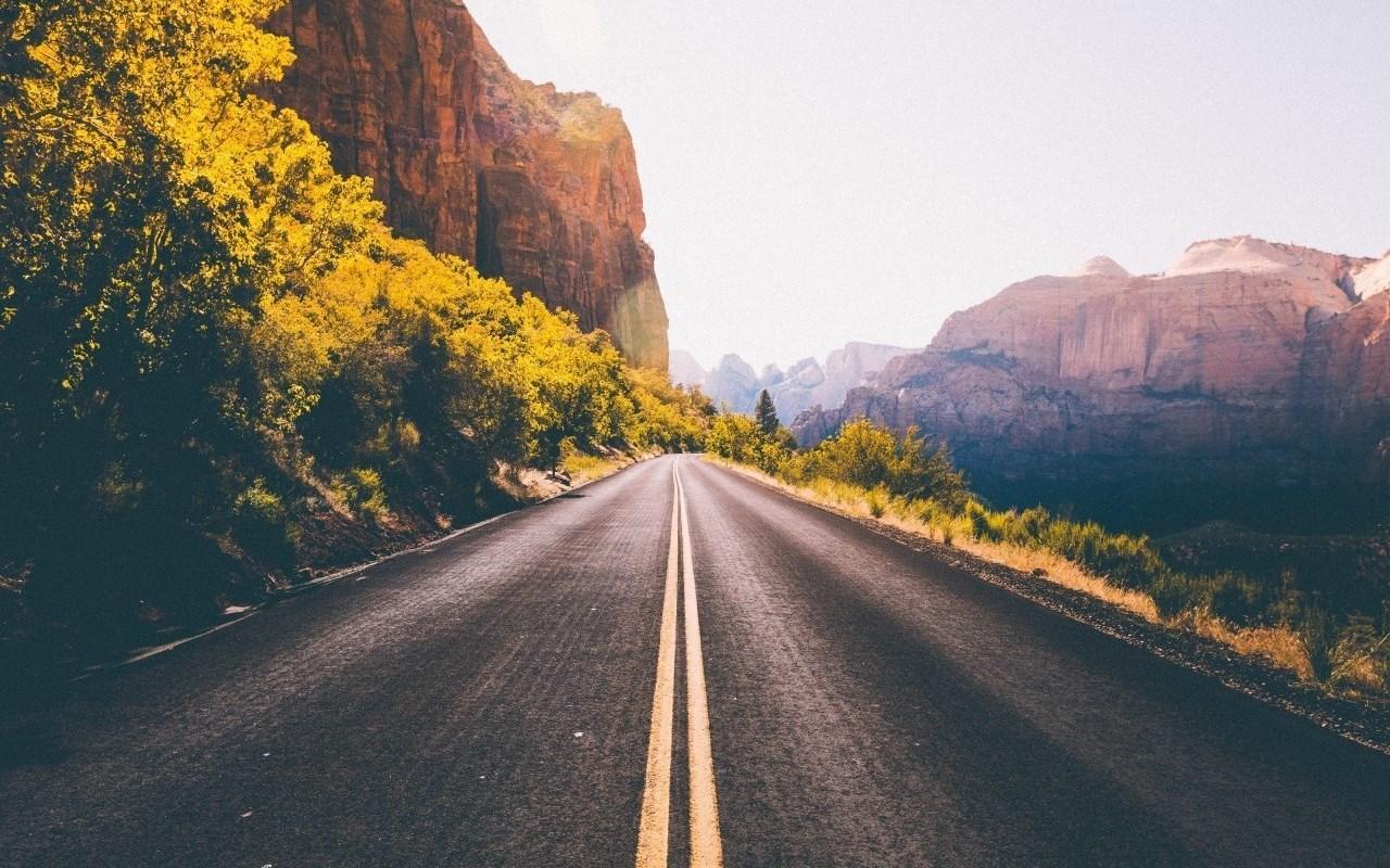 公路壁紙 風景 路的盡頭唯美風景高清桌面壁紙
