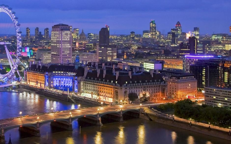 城市节奏夜景图片 浪漫的城市风景壁纸图片