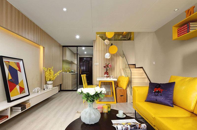 小戶型復式樓房裝修效果圖 色彩創造無限可能