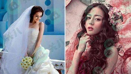 迪丽热巴大学时婚纱照曝光 又清纯又可爱