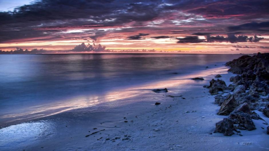 海边沙滩风景图片电脑壁纸高清_图片新闻_东方头条