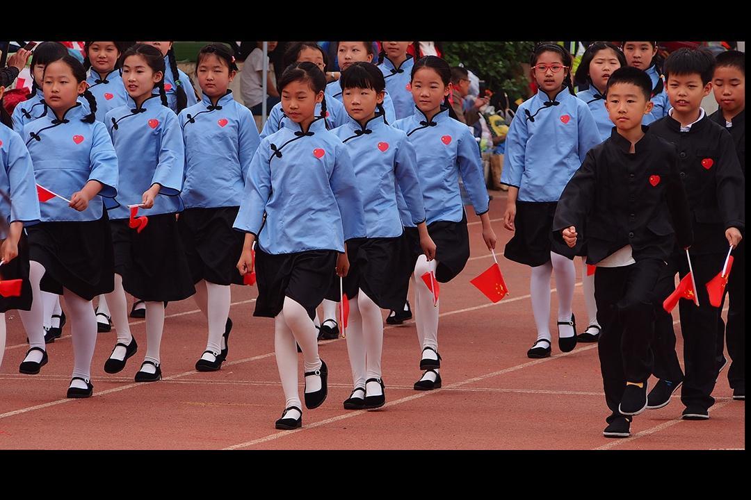 5月5日,济南市山东师大附小召开运动会.