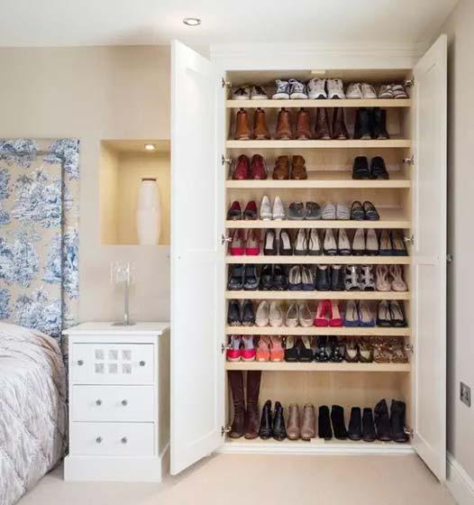 10款鞋柜设计图 原来鞋也可以这么放