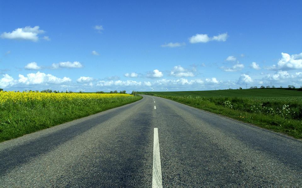 路的尽头风景高清桌面壁纸