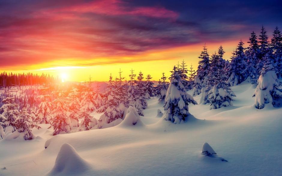 好看的冬天雪景高清图片合集冰天雪地电脑桌面壁纸第一辑