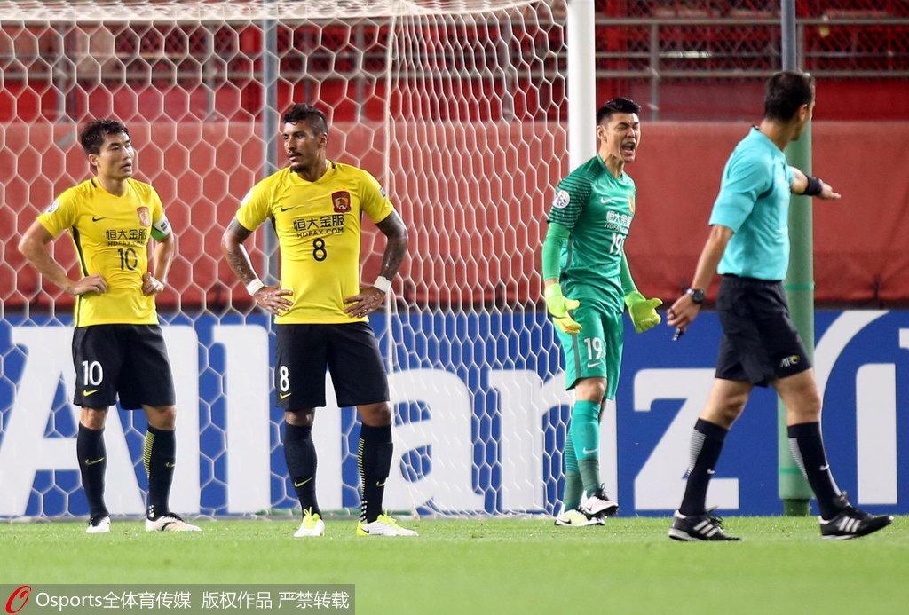 亚冠1/8决赛次回合:鹿岛vs恒大