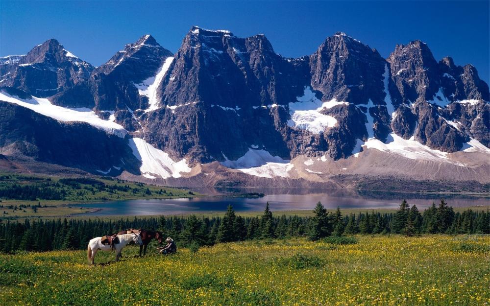 唯美意境大自然山川河流蓝色风景图片高清电脑桌面壁纸下载第一辑