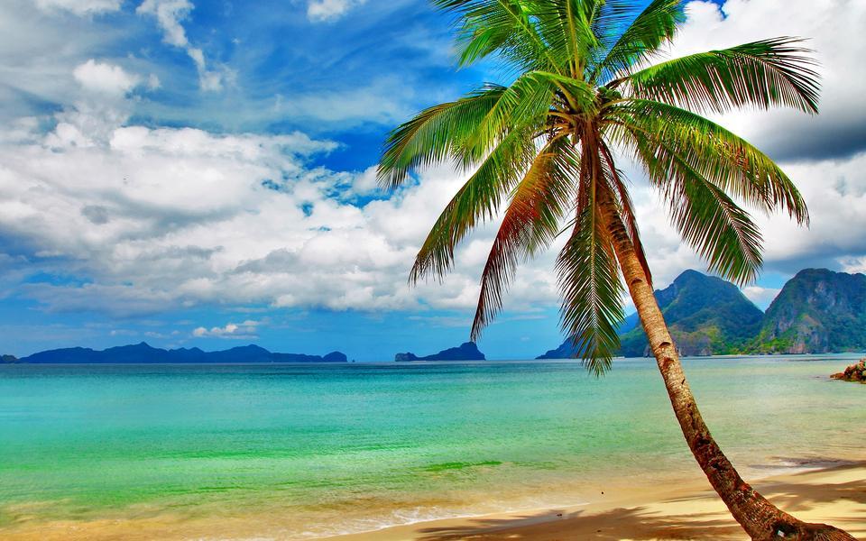 湛蓝的大海风景壁纸