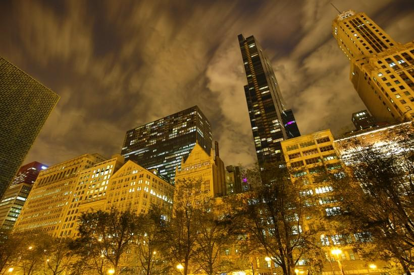 美国芝加哥皇冠喷泉风景图片