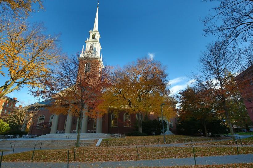 美國哈佛大學校園風景圖片