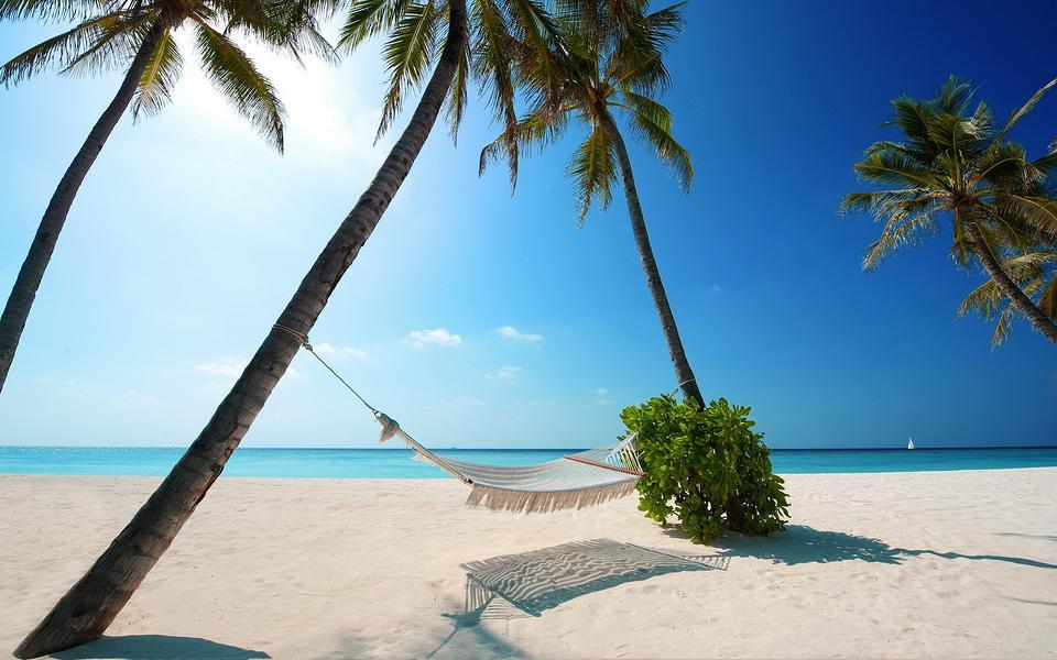 沙滩风景精美高清壁纸