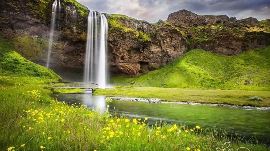 山清水秀绿色自然风景摄影图片