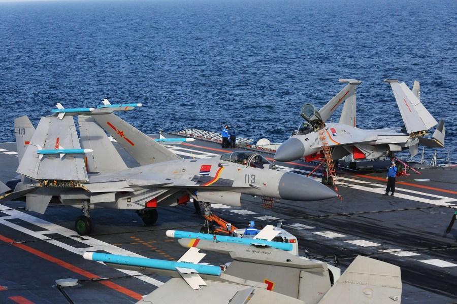 中国航母编队训练高清照曝光 细节一览无余