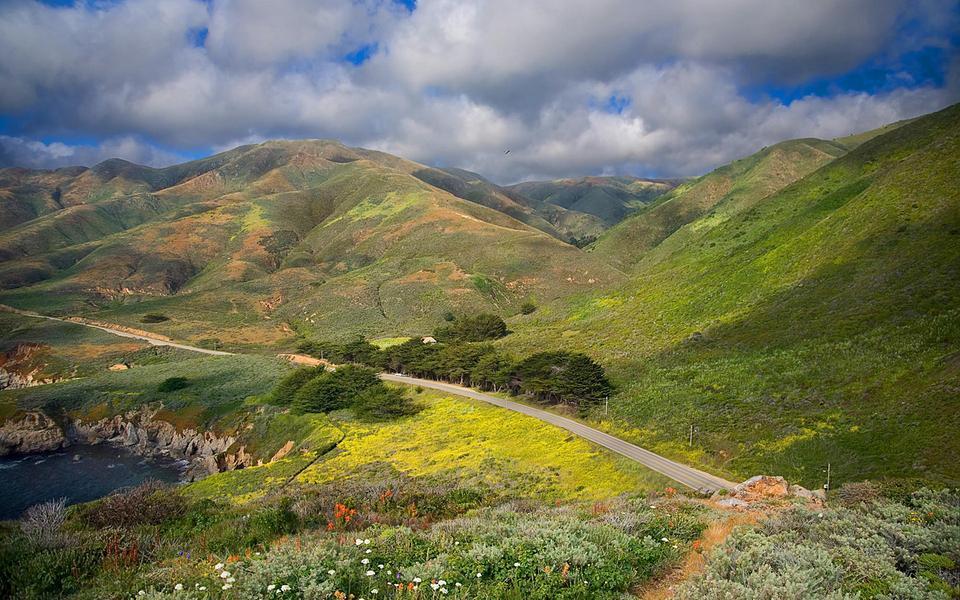 加利福尼亚风景宽屏桌面壁纸