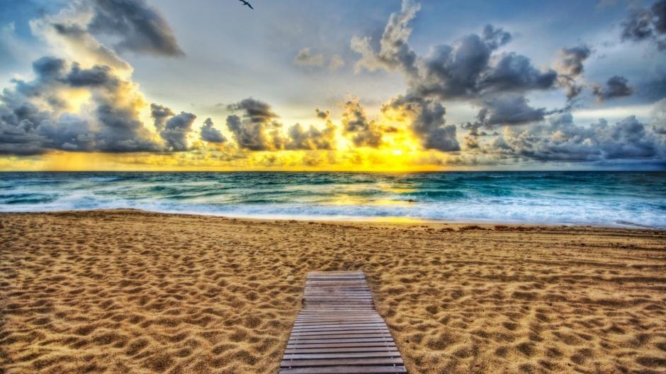 波涛汹涌的大海风景图片