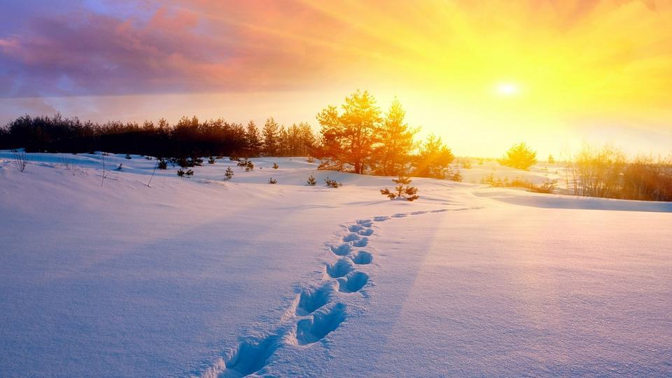 唯美雪景桌面风景壁纸