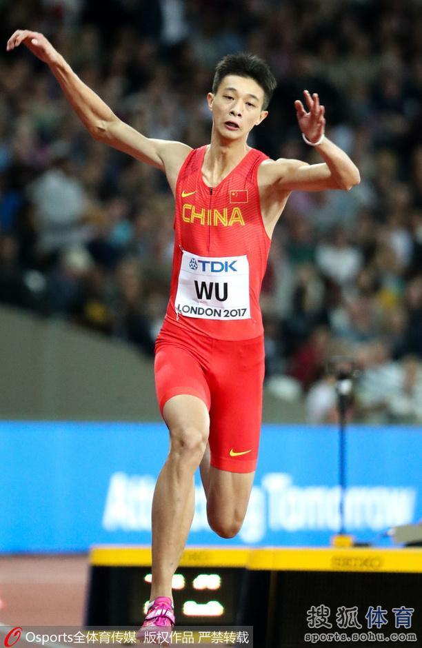 男子三级跳_高清:男子三级跳远决赛 中国小将吴瑞庭出战
