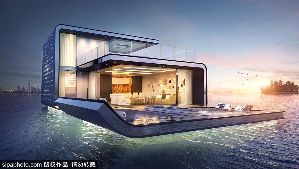 土豪之都迪拜上天也入海将推出水下别墅地下室打井别墅图片