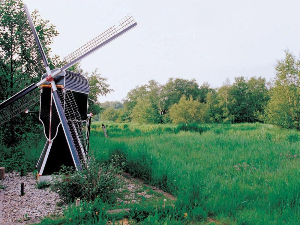 荷兰风车高清风景壁纸图片