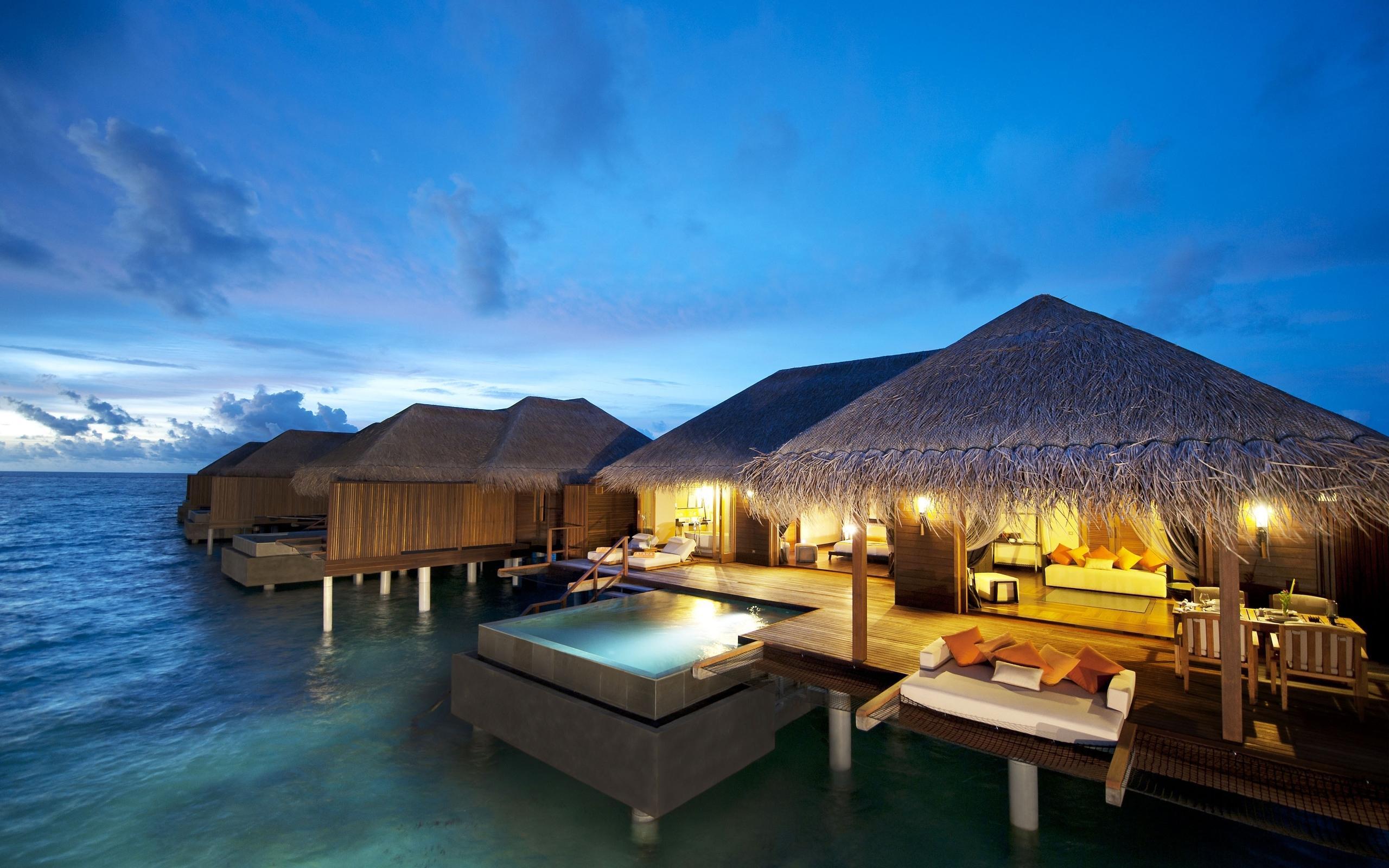 旅游圣地马尔代夫风景桌面宽屏电脑壁纸