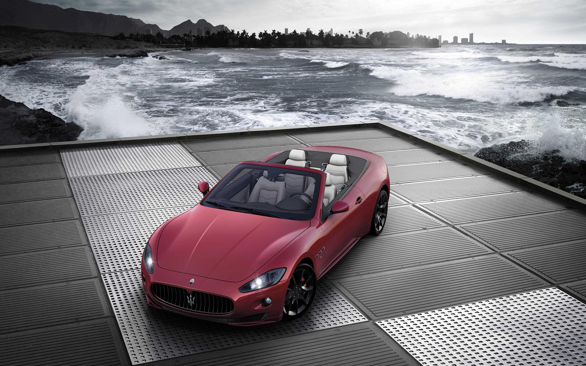 玛莎拉蒂红色炫酷高清汽车图片桌面壁纸