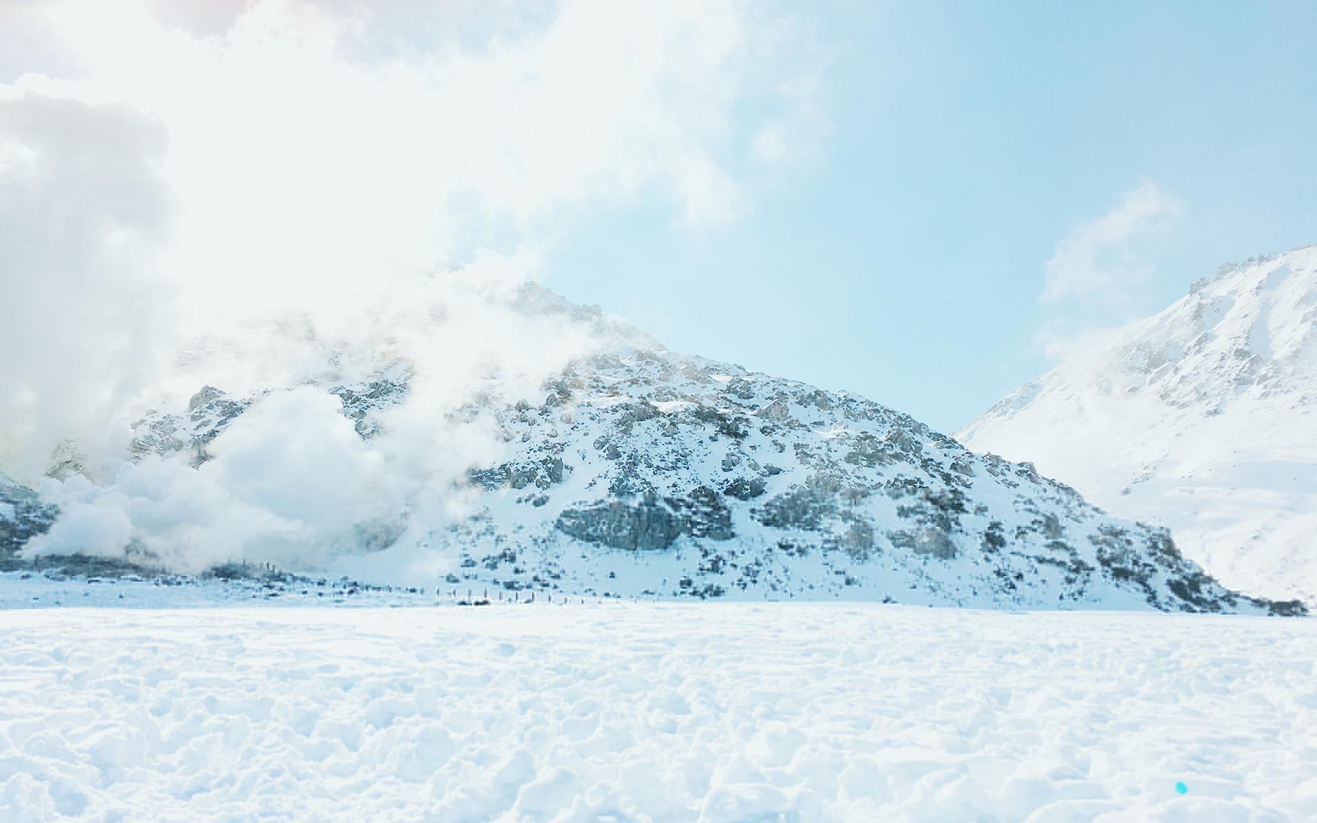 北海道雪景唯美自然高清桌面壁纸