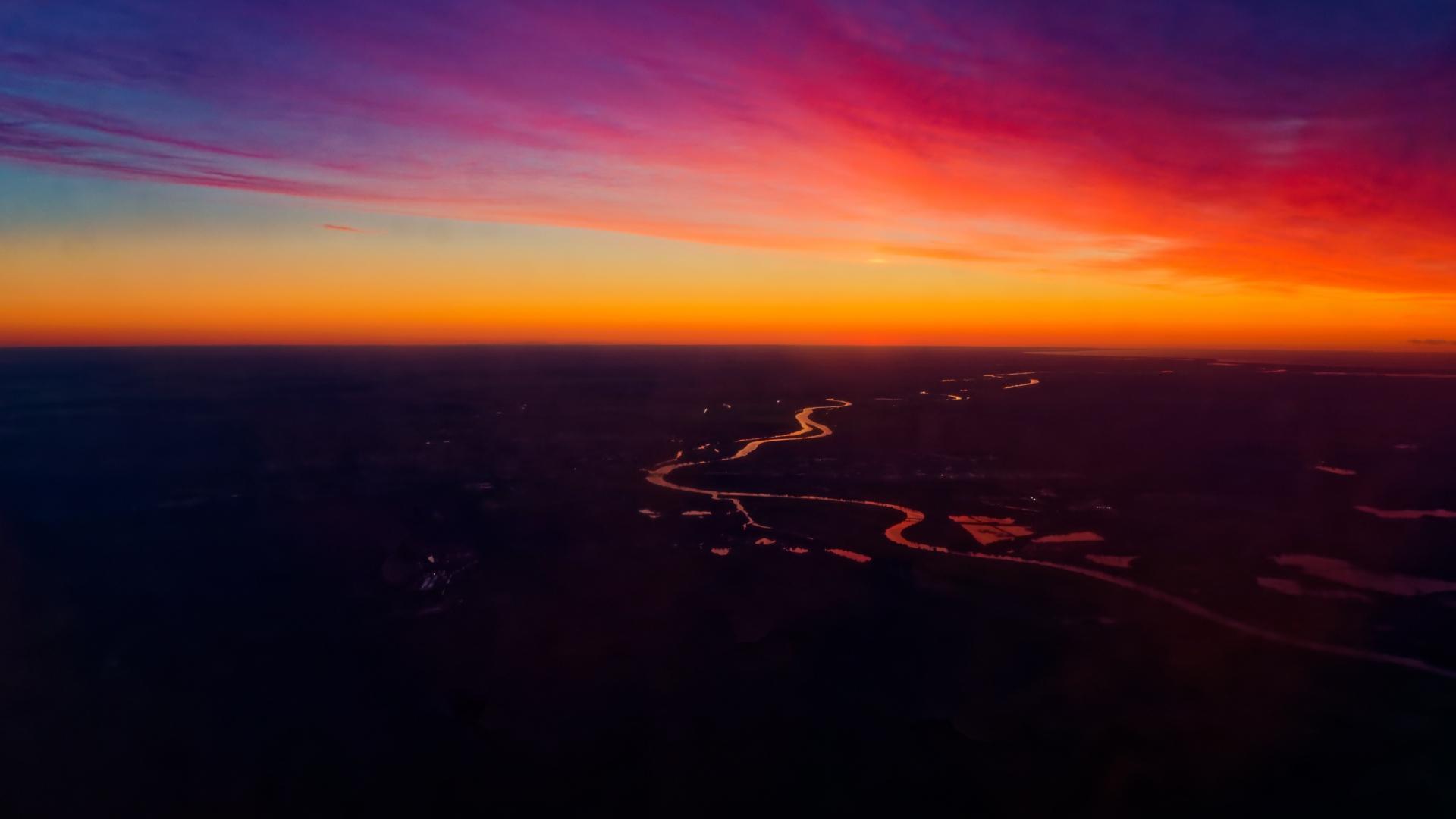 唯美的夕阳西下风景摄影图片壁纸
