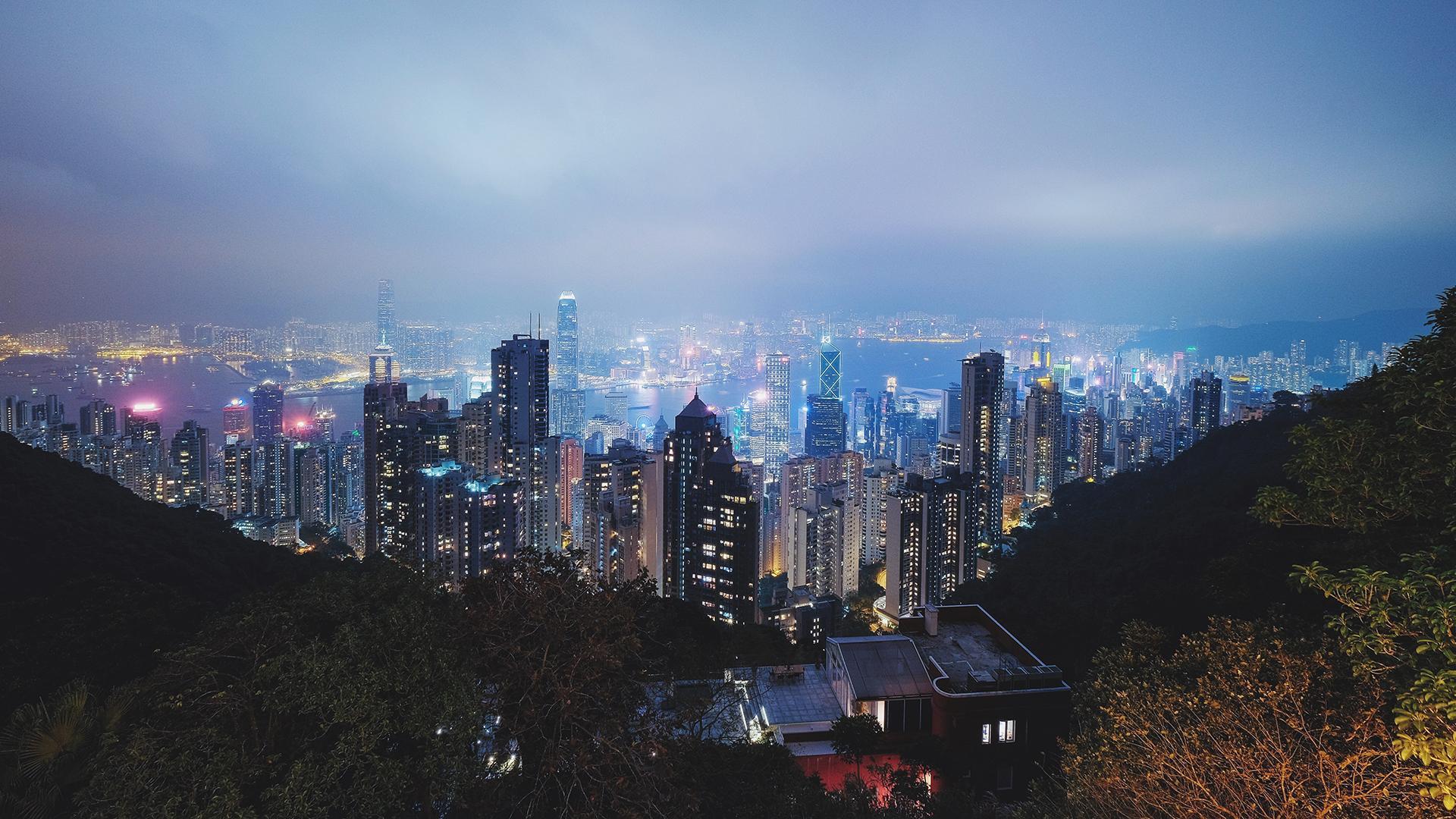 香港城市风景摄影高清宽屏桌面壁纸