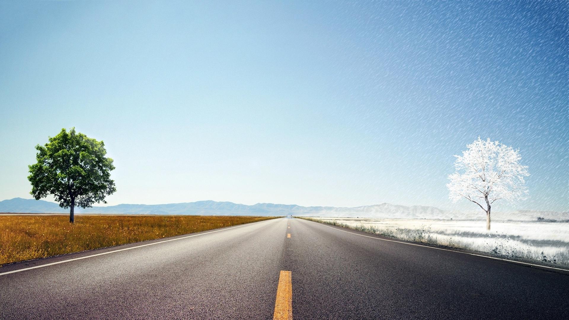 蜿蜒崎岖公路风景图片